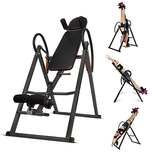 Learn More About Starsmyy Folding Gravity Inversion AB Table Reflexology Exercise Bench Back Neck Pa...