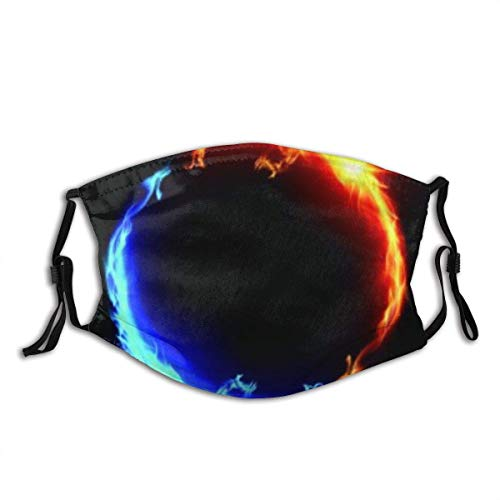 Ring Of Blue And Red Fiery Dragons Facial Decorations Fa-Ce Co-Ver With Filters Bandana