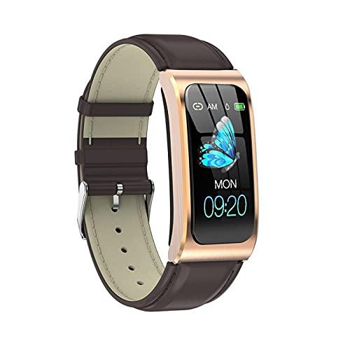 Reloj inteligente para mujer y hombre, pantalla táctil de 1.16 pulgadas, monitor de frecuencia cardíaca, presión arterial Spo2, pista de sueño, recordatorio de ciclo fisiológico para Android iOS (E)