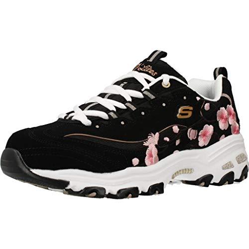 Skechers Calzado Deportivo Mujer D'LITES - Soft Blossom para Mujer Negro 37...