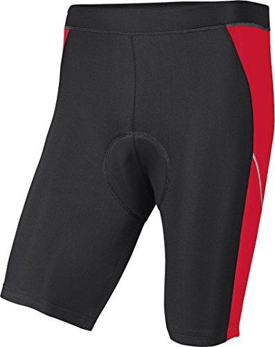Crivit Sports CRIVIT® Herren Fahrradhose, kurz (Gr. L 52/54, schwarz/rot)