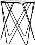 Taburetes de bar, mesa redonda de hierro forjado, mesa auxiliar para el hogar, cafetería, restaurante, mesa de comedor, balcón, ocio, mesa de café (color: B, tamaño: 50 x 50 x 60 cm)