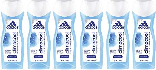 adidas climacool Duschgel für Damen - wohlriechendes Duscherlebnis durch einzigartige Frischekapseln, 6er Pack (6 x 250 ml)