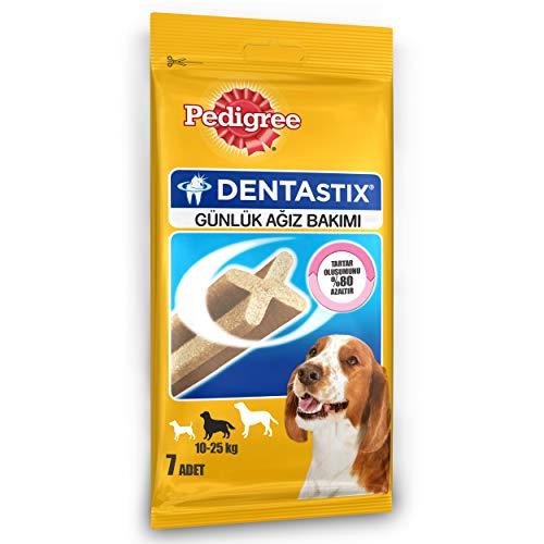 Friandises dentaires Dentastix pour Chiens de Taille Moyenne - Taille d'essai (7 pièces)
