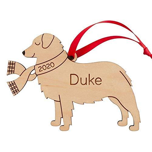 Australian Shepherd Ornament Personalized Puppy's First Christmas 2021 Wood Dog Handmade