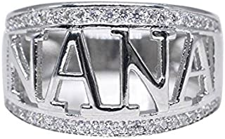 Simplylin_Rings Rings for Women Silicone Wedding Ring Nose Belly Button Exquisite Nana Ring Cubic Zirconia Diamond Nana Birthday Present (10)