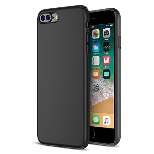 Maxboost iPhone 8 Plus Case, mSnap Apple iPhone 8 Plus/iPhone 7 Plus [Black] Extreme Smooth Surface [Scratch Resistant] Matte Coating for Excellent Grip Thin Hard Protective PC Cover
