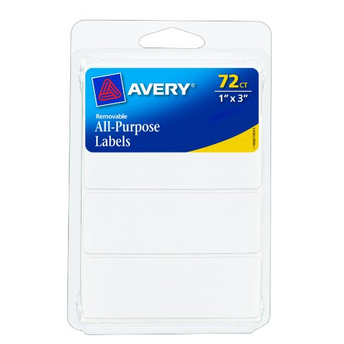 Avery Removable Writable Rectangular Labels, 1 x 3 Inch, White -  1 (6728)