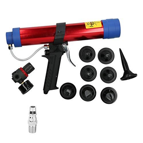 Air Caulking Gun, Pneumatic Glue Gun, Pneumatic Caulking Gun, 4-6Bar for DIY Arts and Crafts Projects, Home Quick Repairs(American Style)