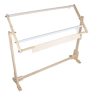 Quilting Frame, Adjustable Wooden Cross Stitch Frame Floor Stand Lap Frame Tabletop for Needlework Craft