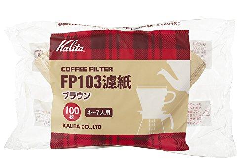 カリタ FP103濾紙ブラウンタイプ 100枚入 4-7人用