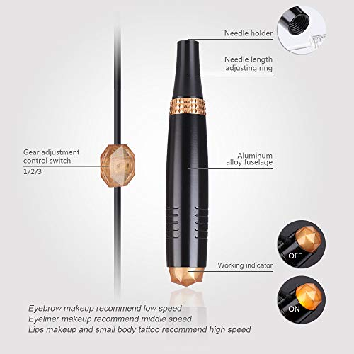 Charme Princesse Eyebrow Machine Permanent Makeup Pen for Eyeliner and Lips Professional PMU Pen Rotary Makeup Pen for MTS EM508