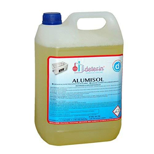 DETERIN, S.A. Alumisol detergente Limpiador ultrasonidos Especialmente formulado para desengrasar, Restaurar y potenciar el Brillo Natural de Las Piezas de Aluminio y Acero del automóvil.