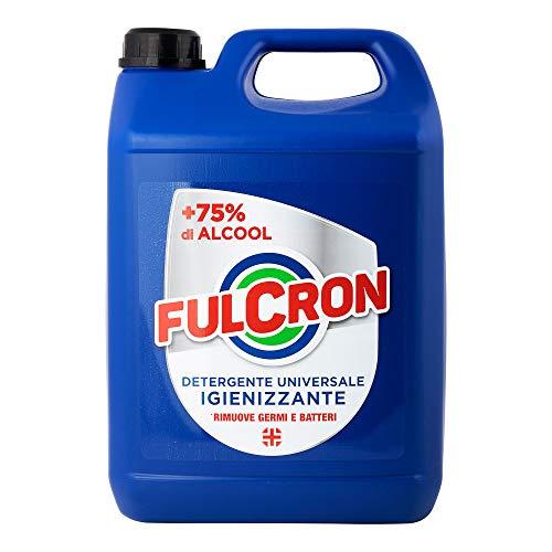 Fulcron Detergente Universale Igienizzante 5 l igienizzante spray a base alcolica alta...