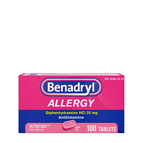 Benadryl Ultratabs Antihistamine Allergy Relief Tablets,...