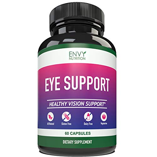 Eye Support Supplement - Healthy Vision Support with Vitamins A + C + E +B12, Zinc and Copper - 60 Capsules