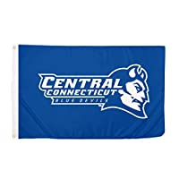 Central Connecticut State University CCSU Blue Devils NCAA 100% Polyester Indoor Outdoor 3 feet x 5 feet Flag [並行輸入品]