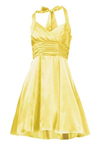 Ashley Brooke event Designer-Cocktailkleid mit Petticoat gelb Größe 34