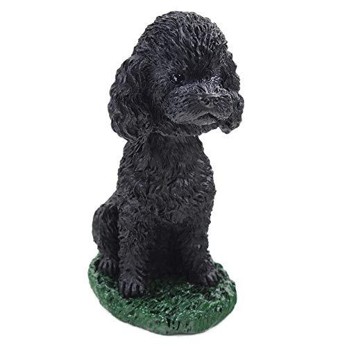 Poodle Black Dog Bobblehead Figure for Car Dash Desk Fun Accessory