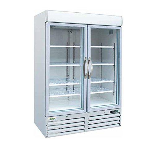 Armario congelador con doble puerta de cristal 1078LT. Temp. -18°/-22°C.
