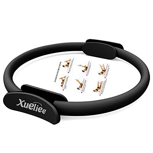 Xueliee Anello di resistenza -Circle Attrezzo Per Allenamento Pilates, Unisex (Black 38cm)