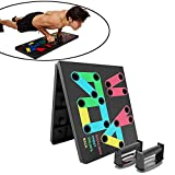 Smoothlycd 14 En 1 Push-Up Board Handle Grip Plegable Home Portable Press Up Stand Rack Support Indoor Gym Hombres Mujeres Workout Fitness Equipo Ejercicio Entrenamiento Fuerza Muscular