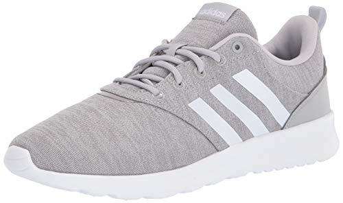 adidas Women's QT Racer 2.0 Running Shoe, Grey/White/Light Granite, 5.5