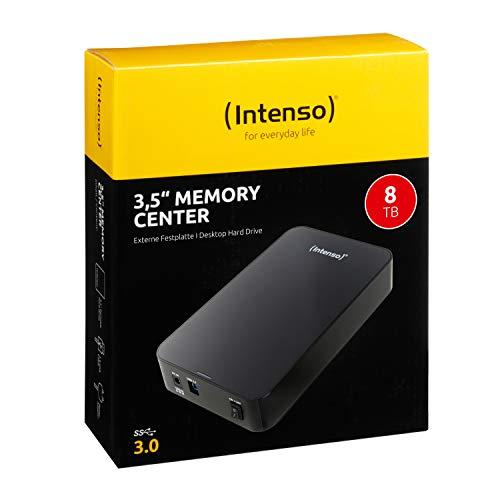 "Intenso 3.5"" Memory Center USB 3.0 8000GB Negro - Disco Duro Externo (8000 GB, USB Type-B, 3.0 (3.1 Gen 1), 5400 RPM, 5000 Mbit/s, Negro) miniatura"