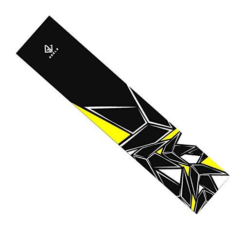 Black Temptation Skateboard Grip Band Blatt Blase Freie Scrub Aufkleber Abriebfeste Anti-Rutsch, Gelb #25
