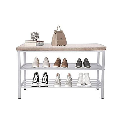 YiShuHua Almacenamiento Multicapa, Estante de Zapatos con 2 estantes, Banco, para Pasillo, Sala de Estar, para 6-8 Pares de Zapatos, Zapatos para Sentarse (Color : Brown)