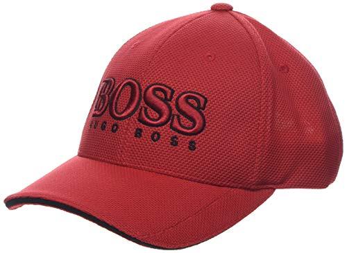 BOSS Herren US Baseball Cap, Rot (Bright Red 400), One Size (Herstellergröße: STCK)