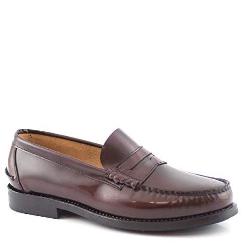 PAYMA - Mocasin Castellano de Piel para Hombre. Hechos en España. Zapato Clasico Antifaz y Borlas para Caballero. Piso de Goma Muy Flexible. Piel Antiarrugas. Antideslizante