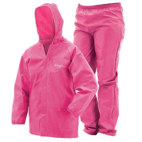 FROGG TOGGS Youth Ultra-Lite2 Suit, Small, Pink