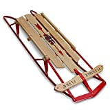 Flexible Flyer Metal Runner Sled. Steel & Wood Steering Snow Slider, 48""