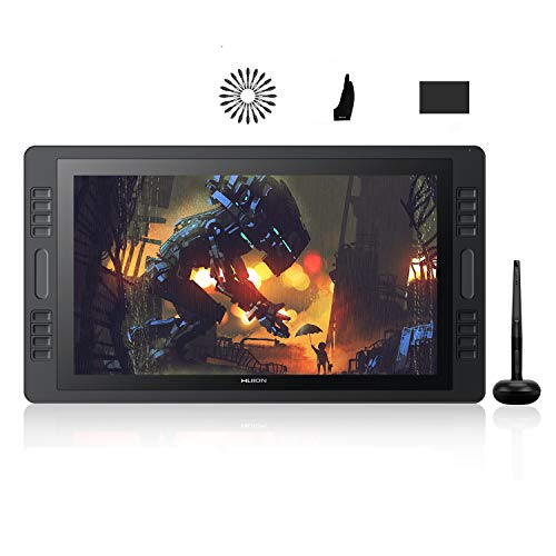 HUION Kamvas Pro 20 2019 Tableta Gráfica con Pantalla, Monitor de Dibujo Gráfico de 19,5 Pulgadas, Completamente Laminado, 120% sRGB, 16 Teclas Expresas Personalizadas, Doble Barra táctil
