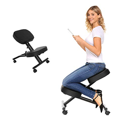 Bathwa Ergonomic Kneeling Chair, Posture Corrective Chair, Angled...