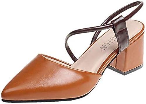 ZJYSM ZJYSM L'été, Les Sandales à Talons Hauts pour Femmes à La Mode Pointue Baotou sont épaisses avec des Les Les dames Sauvages Confortables Et des Sandales Hautes Sauvages des Chaussures  marchandise de haute qualité et service pratique et honnête