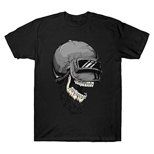 Pubg Skull Helmet Level 3 Pubg Chicken Dinner T Shirt, Black