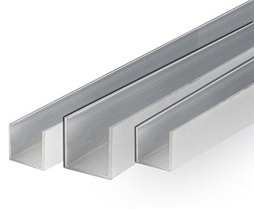 Aluminium U-Profil Schiene Walzblankes Alu Profil 25x25x25x2 mm 2000mm