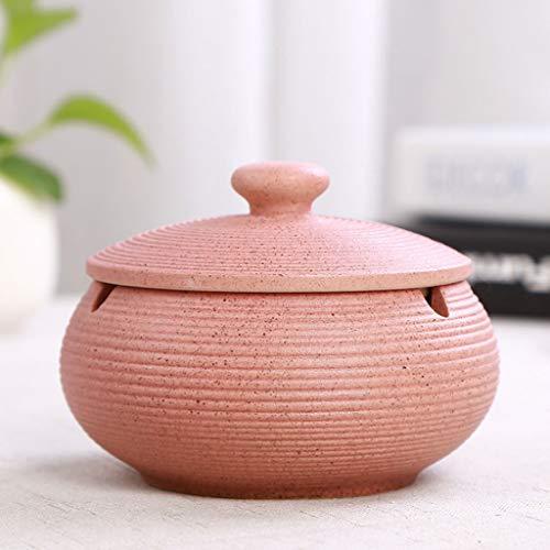 ZXW Cenicero Cenicero de cerámica Creativo Simple Estilo Europeo Redondo Retro con...