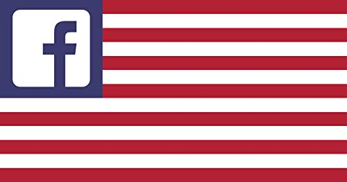 magFlags Flagge: Large Facebook United States | A Humorous Variation of The United States | Querformat Fahne | 1.35m² | 85x160cm » Fahne 100% Made in Germany