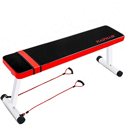 HAIPHAIK Foldable Portable Weight Bench - Multi Function Workout Bench and Ab Exercises