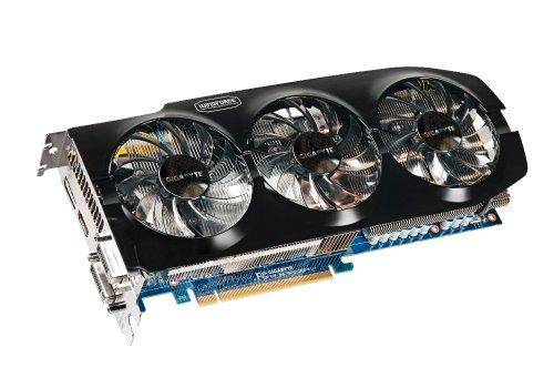 Gigabyte NVIDIA GeForce GTX 670 OC Grafikkarte (PCI-e, 2GB, GDDR5, 2x DVI, HDMI, DP, Windforce 3X)