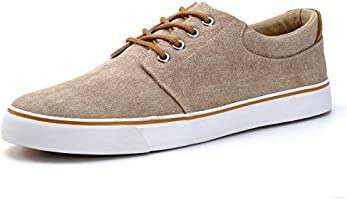 DREAMY STARK Men Waterproof Canvas Shoes Casual Low Top Sneakers Fashion Skate Shoe