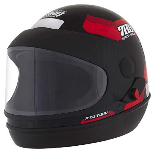 Pro Tork Capacete Sport Moto 788 60 Preto/Vermelho
