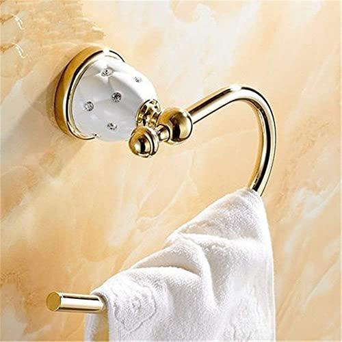 Toque Gold Acero inoxidable Inserción Taladro de pared de la pared en una toalla Rack Cepillo de inodoro y soporte de papel higiénico (Color : Towel Ring)