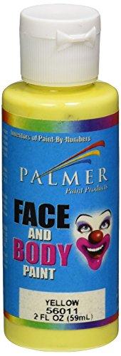 Palmer 56011-36 Face & Body Paint, 2 oz, Yellow