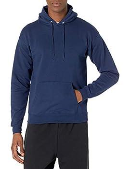 Hanes Men s Pullover EcoSmart Hooded Sweatshirt Navy X-Large
