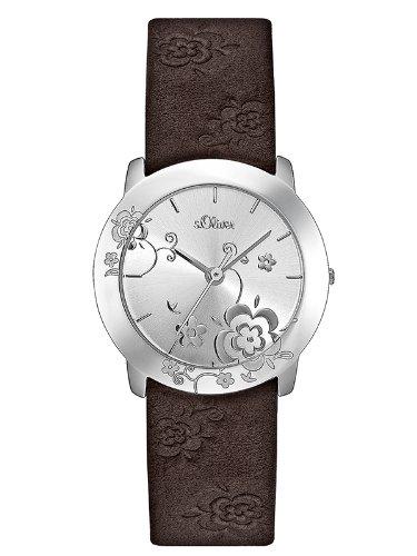 s.Oliver SO-1661-LQ - Reloj de Mujer de Cuarzo Color marrón