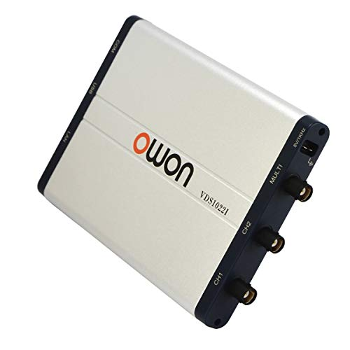 Owon VDS1022I USB PC Oscilloscope, MIT USB Isolation, 25 MHz